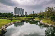 Hamarikyu Gardens, Tokyo On An...
