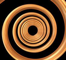 Spiral Background. 3d Illustration