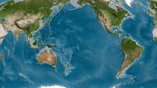 Pacific Tectonic Plate - Raste...