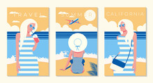 Set Of Travel Posters. Young W...