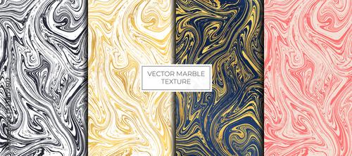 Fotografía Gold and white marble vector design. Marbling Texture design.