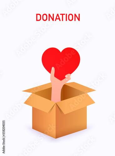 Tela doação donation box