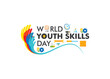 world youth skills day poster or banner design