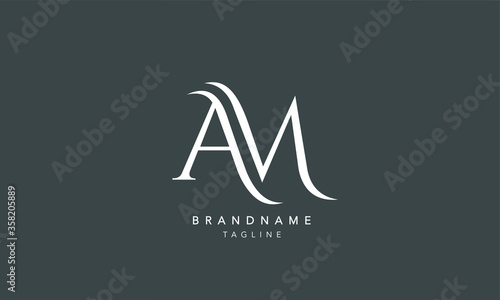 Photographie Alphabet letters Initials Monogram logo AM, A and M
