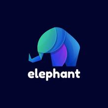 Colorful Elphant Logo Template