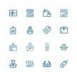 Editable 16 cardboard icons for web and mobile
