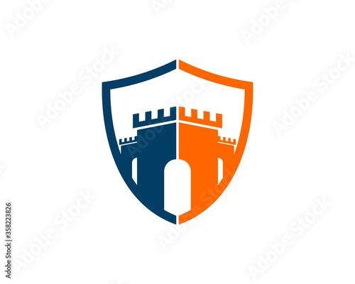 Fotografija Shield with Fortress silhouette inside
