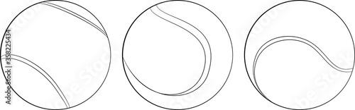 Slika na platnu Set of Vector tennis ball icon