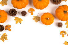 Autumn Flat Lay With Pumpkins ...