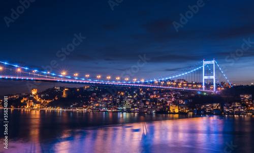 Carta da parati Fatih Sultan Mehmet Bridge in Istanbul.