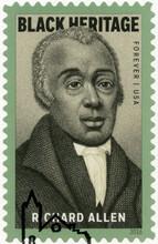 USA - 2016: Shows Portrait Richard Allen (1760-1831), Bishop, Black Heritage, 2016