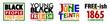 Young Black People. Juneteenth Free-ish Since June 19, 1865. Freeish Design Set of Banner. Vector Logo Illustration.