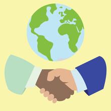 Business Handshake With Earth ...