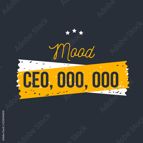 Mood CEO, team motivational quote, success text quote, strategy slogan, ambition Canvas Print