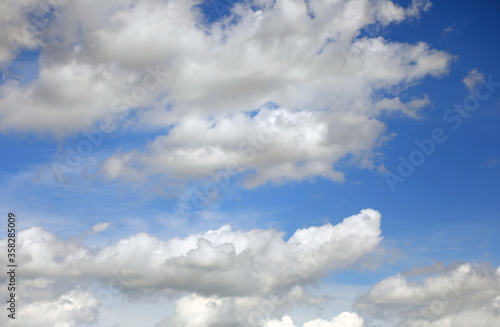 Fotografie, Obraz blue sky with several white clouds ideal as a background
