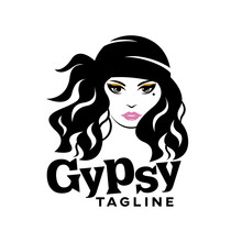 Modern Beautiful Gypsy Logo.Ve...