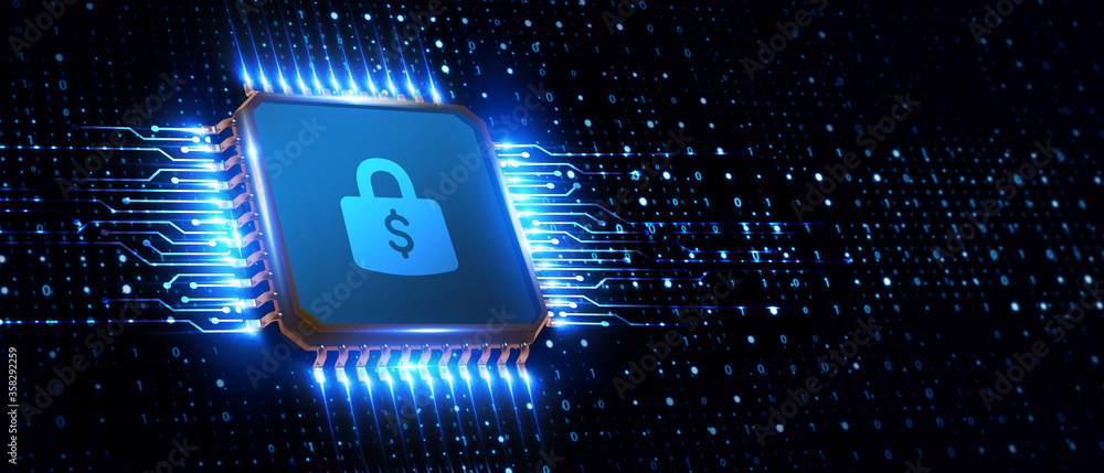 Fototapeta Cyber security data protection business technology privacy concept.