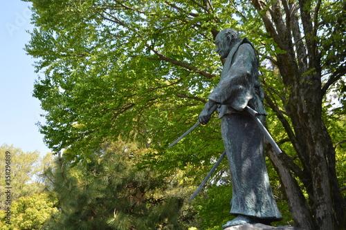 Fototapeta The Grave of Miyamoto Musashi, Musashizuka Park in Kumamoto, Japan