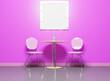 Leinwanddruck Bild - Chair and modern living room scene 3d rendering home decoration background
