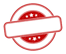 Blank Stamp. Blank Round Grung...