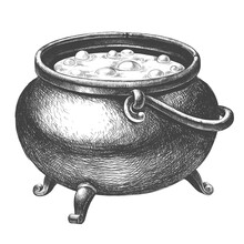 Witch Cauldron With Potion On ...