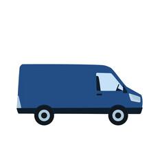 Minivan. Auto, Bus. Flat, Vector Illustration. Transport