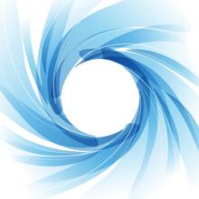 Vector Blue Vortex Background. Centrifuge, Washing Machine, Fan Or Air Conditioner
