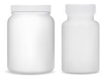White Plastic Supplement Bottl...