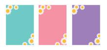 Daisy Flower Banner Set, Sunfl...