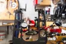Tyre Pressure Gauge In Bike Shop