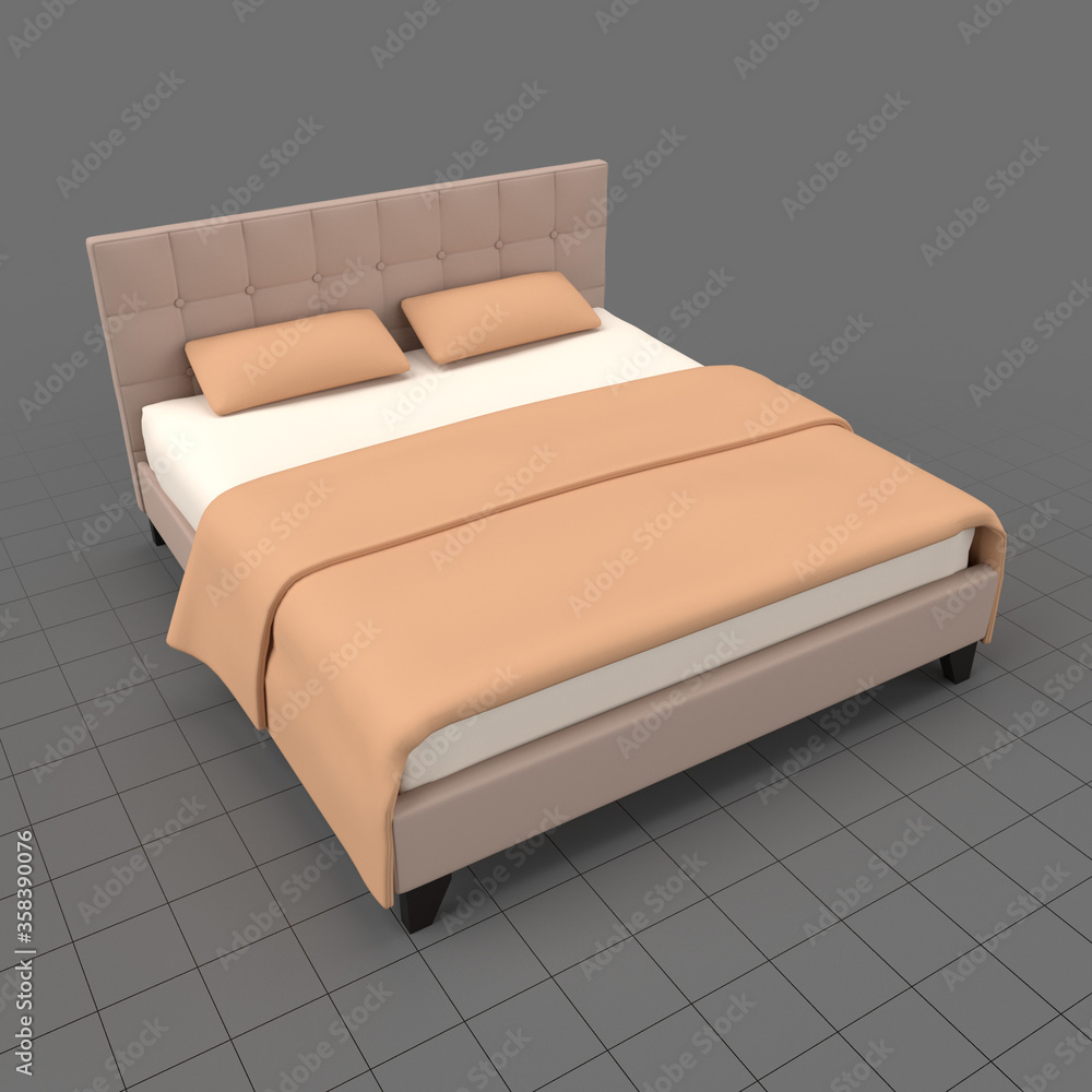 Fototapeta Modern double bed 2
