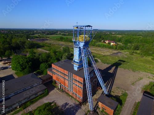 Fototapeta Nieczynna wieża szybowa obraz