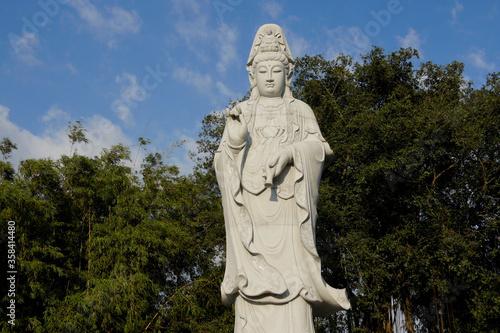 Statue of Kwan Yin (Guan Yin), Goddess of Mercy, Puh Toh Tze (Poh Toh Tse, Pu Tu Fototapet