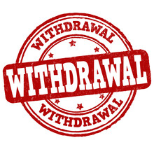 Withdrawal Grunge Rubber Stamp