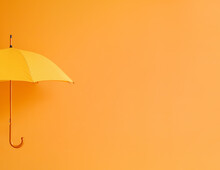 Hand With Stylish Umbrella On Color Background