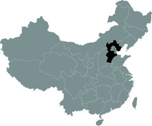 Black Location Map Of Chinese ...