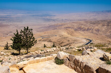 It's Holy Land, View From The Mount Nebo, The Place Where Moses Was Granted A View Of The Promised Land That He Would Never Enter.
