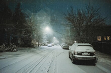 Snow Night 2020 In WA, USA