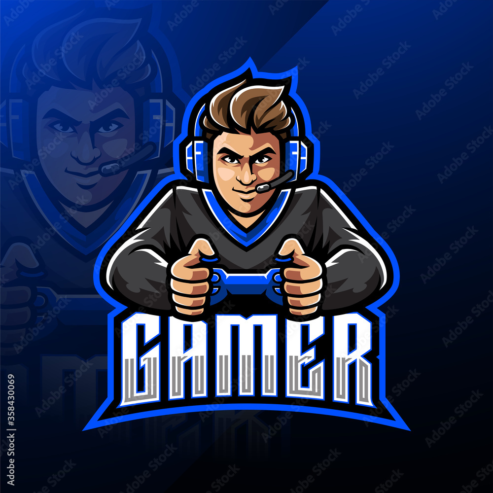 Fototapeta Gamer esport mascot logo design