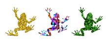 Frog Vintage Glitter Animal Re...