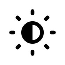 Brightness Control Icon Vector...
