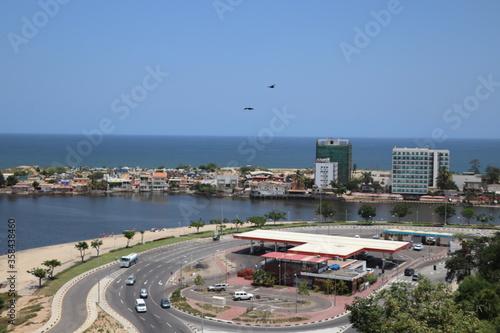 Obraz aerial view of  Luanda - Ilha de Luanda - fototapety do salonu