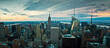 View of The Skyscrapers and The Manhattan Skyline From The Top of The Rock, Rockefeller Center, New York, New York, USA
