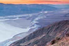 Bad Water Basin Below Dante's View,Death Valley National Park, Calfornia,USA