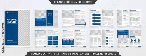 Cuadros en Lienzo set of business brochure layout template with minimalist concept and modern styl