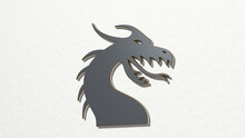 Dragon Made By 3D Illustration...