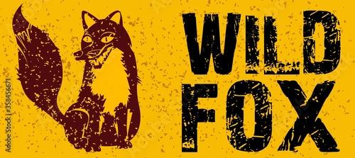 wild fox sketch Canvas Print