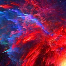 Colourful Cosmic Explosion