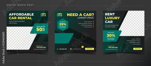 Fotografía Affordable car rental banner for social media post template