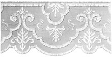 Lace Doily On White